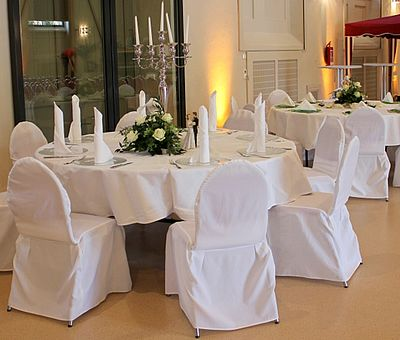 Tischdeko im Fürstlichen Marstall